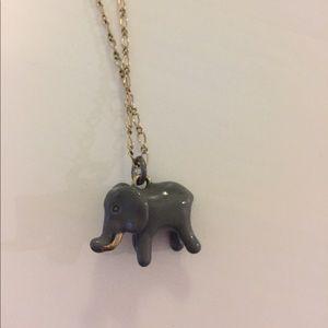 JCrew Stacking Elephant Necklace